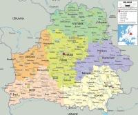 Fehéroroszország autó térkép